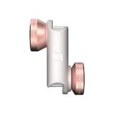 OLLOCLIP 4-in-1 Lens - kit lentile iPhone 6 & 6 Plus, roz cu alb