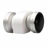 OlloClip Sistem lentile 4-in-1:  Fisheye, Wide-Angle, 10x Macro si 15x Macro alb-argintiu iPhone 5s / 5