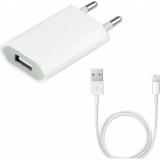 Pachet Incarcator + Cablu Lighting - Alb