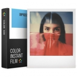 Polaroid Impossible - Film Color pentru 600, White Frame