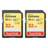 SanDisk Dual Extreme SDHC 32GB 90MB/s, 600x, U3, V30, 4K UHD, 2 buc.