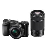 Sony Alpha A6000 kit SEL16-50mm F3.5-5.6 + SEL55-210mm Wi-Fi/NFC negru