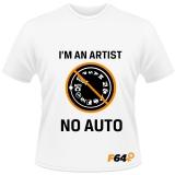 Tricou alb - I am an Artist (No Auto) - S