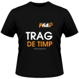 Tricou negru - Trag de Timp - M