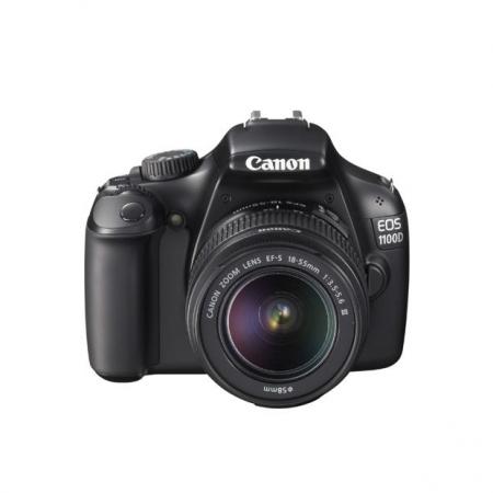 Canon EOS 1100D kit EF-S 18-55mm f/3.5-5.6 Mk III (fara IS) - 12.2 MPx , LCD 2.7