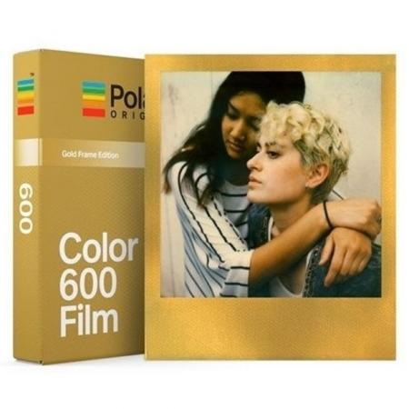 Film color pentru Polaroid 600 rama aurie